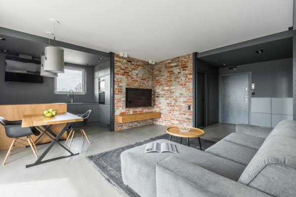 mieszkanie w stylu modernistycznym